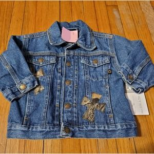 Custom Denim Jacket With Ironed/Stitched Crosses
